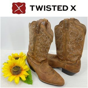 Twisted X Brown Western Boot WWT0025 Size 10